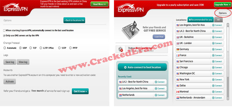 Express VPN Crack Screenshots