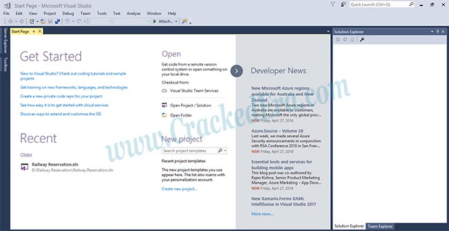 Visual Studio 2017 Crack Screenshot